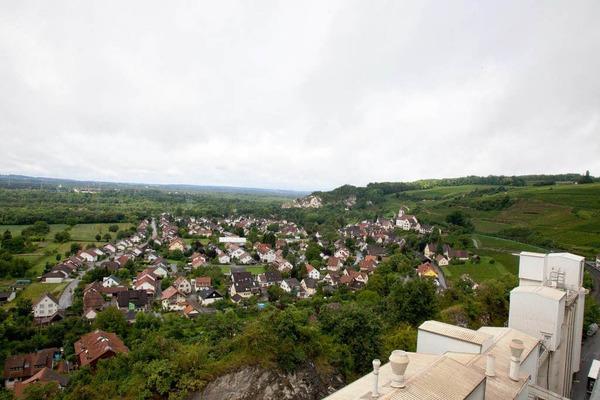 Besonders schön am Außendienst: Der Blick vom Ofen über die Rheinebene.