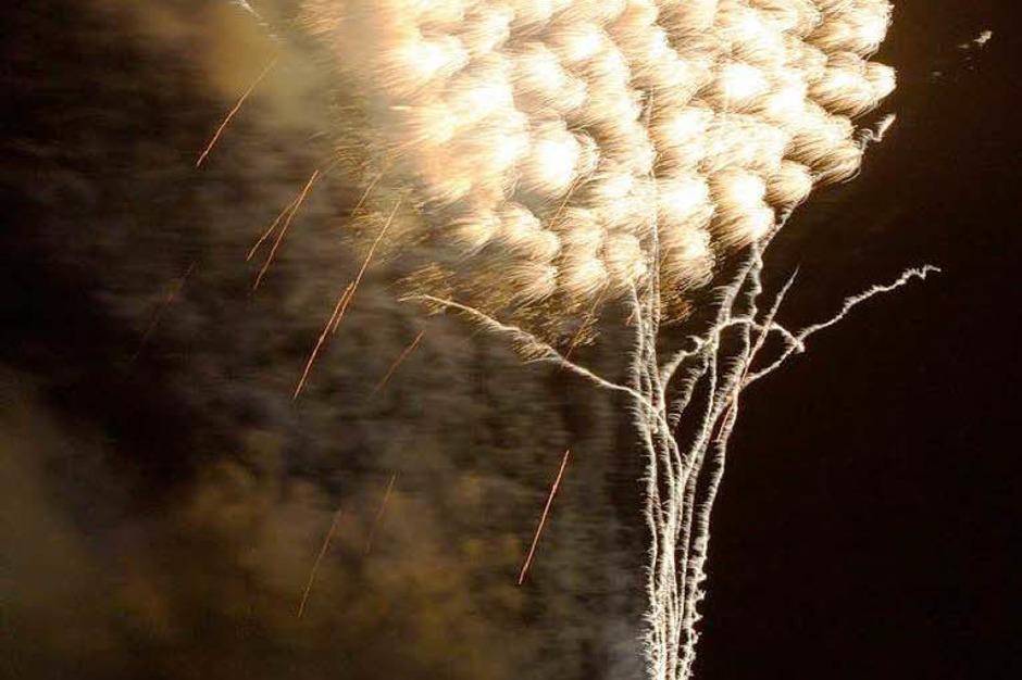 Farbenprächtig: das große Feuerwerk am Freitagabend (Foto: Hans-Peter Ziesmer)