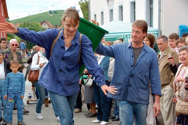 Impressionen vom Weinfest mit Winzerolmypiade. <?ZP?>