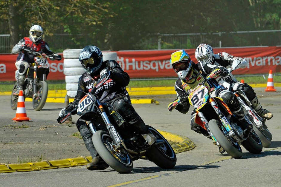 Supermoto-Rennen in Bremgarten (Foto: Michael Bamberger)