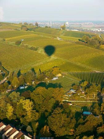 Ballonschatten auf dem Humberg