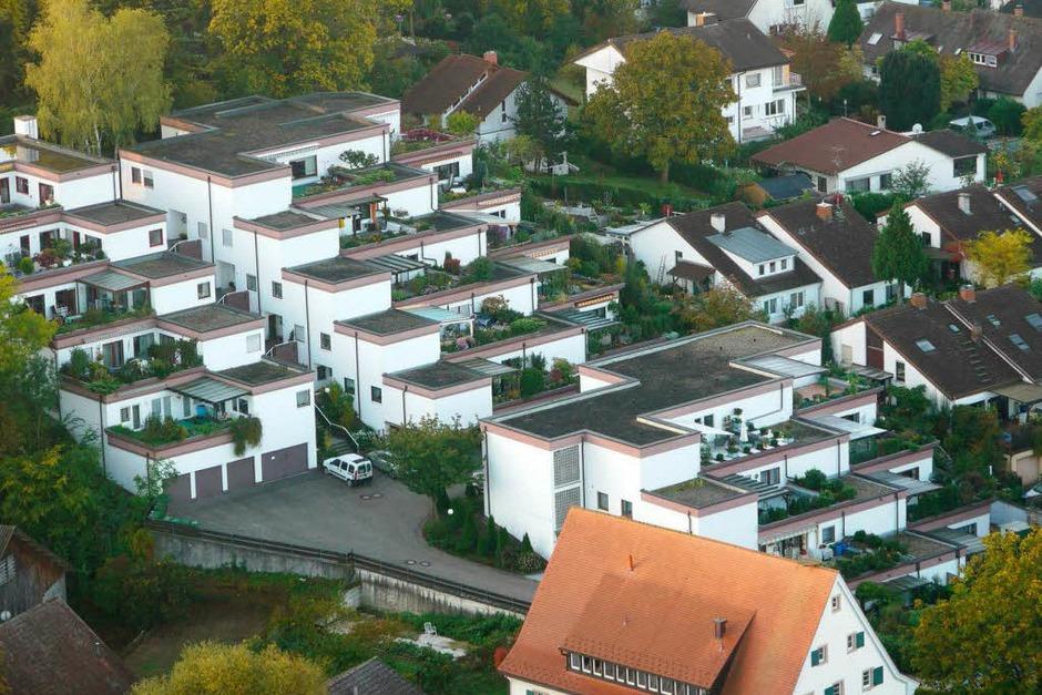 Terassenhäuser und noch ein Eckchen vom Mühlenmuseum (Foto: Katharina Meyer)
