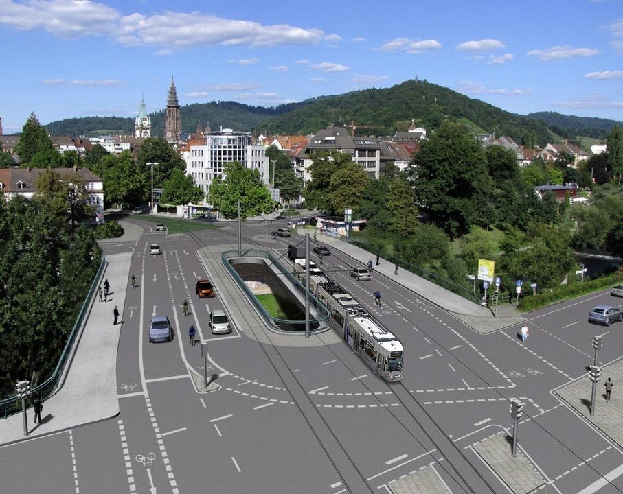 So soll die neue Kronenbrücke aussehen.    Foto: Privat
