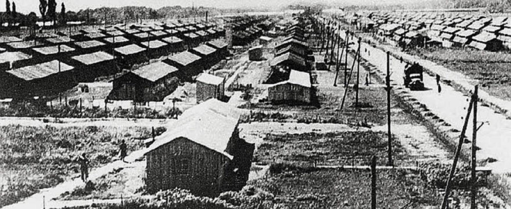 Eine historische Aufnahme des Lagers im französischen  Gurs   | Foto: BZ-Archiv