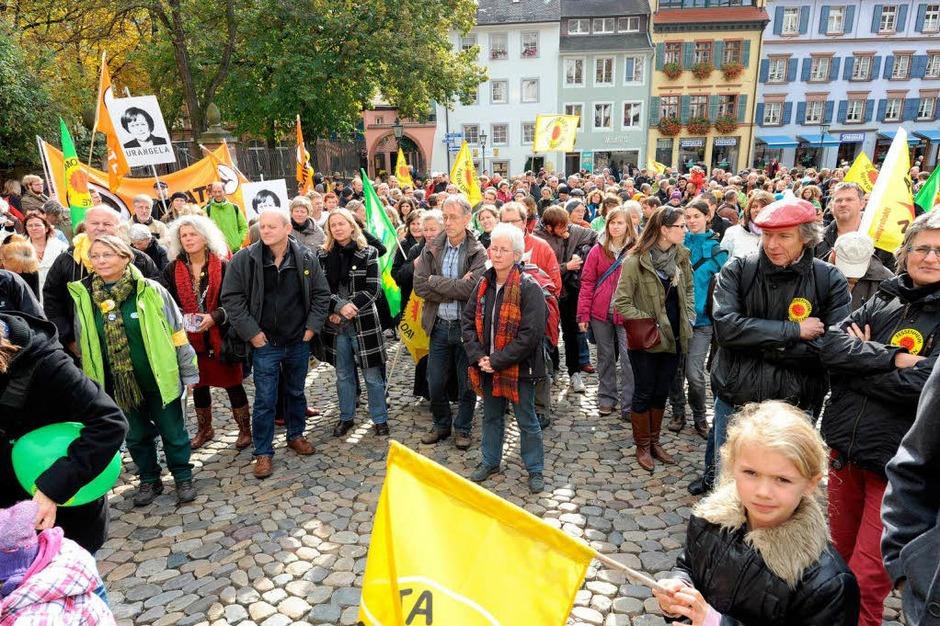 Gegen Atomkraftwerke gingen die bundesweiten Proteste – so auch in Freiburg. (Foto: Rita Eggstein)