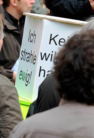 Gegen Atomkraftwerke gingen die bundesweiten Proteste – so auch in Freiburg.