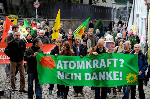Gegen Atomkraftwerke gingen die bundesweiten Proteste &amp;#8211; so auch in Freiburg.