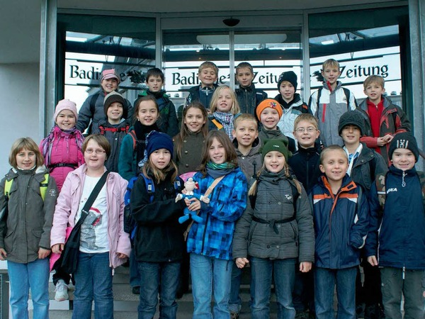Die Klasse 4c der Johann-Peter-Hebel-Grundschule aus Gundelfingen mit ihrer Klassenlehrerin Frau  Mertz.