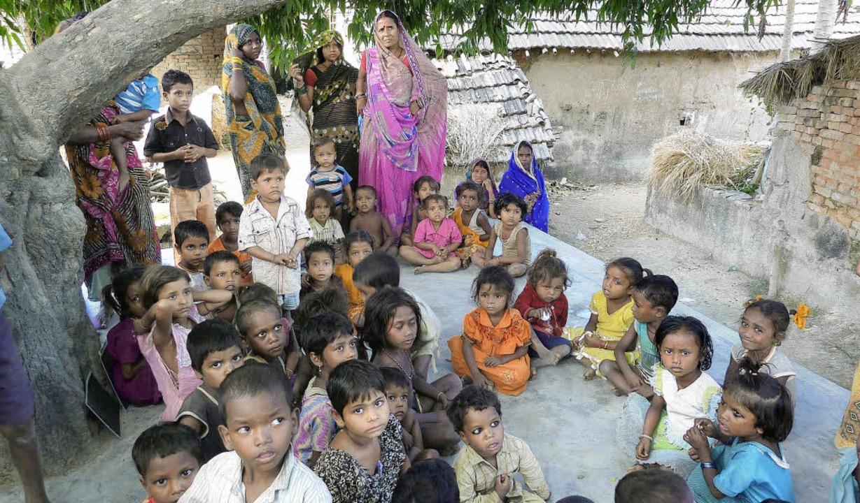 Der von Genova, dem  Wohnprojekt im Va...ützte Kindergarten im indischen Bihar.    Foto: Dirk Krampe