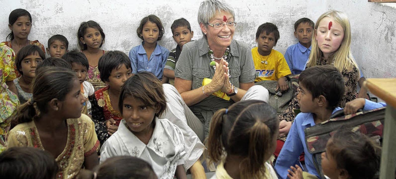 Uta Stehle, Schulleiterin der Karoline...n Bheel Basti im indischen Rajasthan.     Foto: Benjamin Pütter