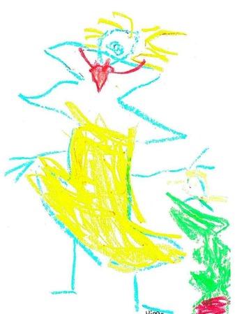 Von Niclas, 4 Jahre, aus der Frösche- Gruppe