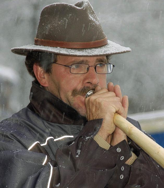 Alphornbauer Edwin Schanz aus Eberfingen.    Foto: Binner-Schwarz