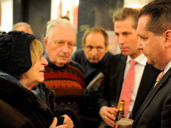 ...dort stellte sich der CDU-Mann den Fragen der BZ-Leser und interessierter Bürger-