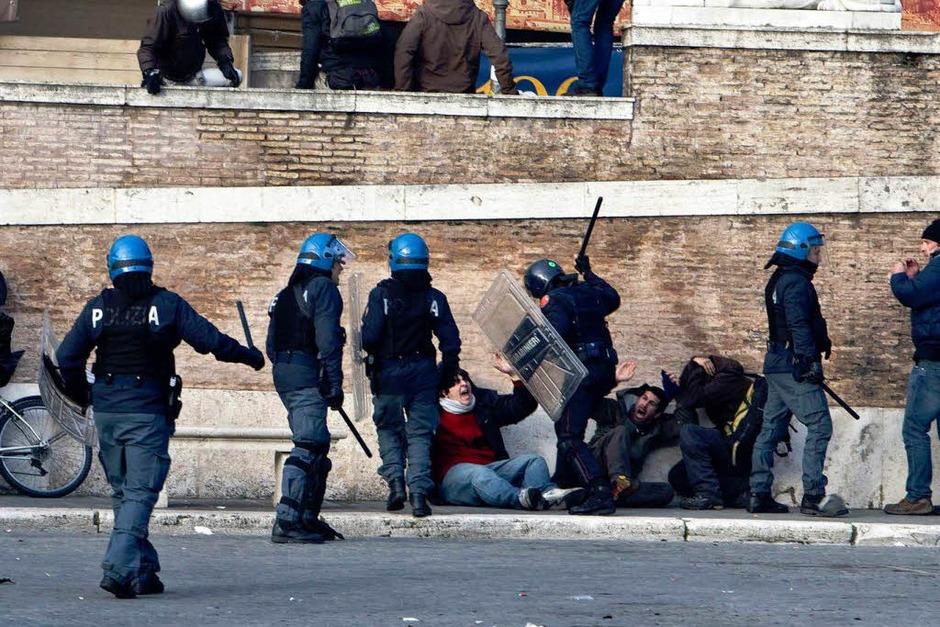 Randale in Rom. (Foto: dpa)