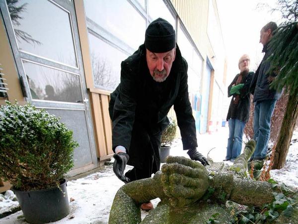 Der emeritierte Politologe Hans-Otto Mühleisen (69) hatte 30 Jahre lang nach der Statue gesucht. Sie lag sieben Jahre lang vor dem Meißenheimer Bauhof in der Ortenau