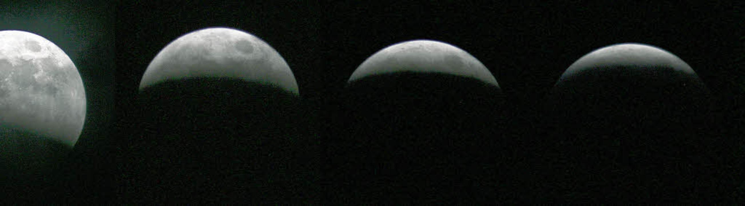 Verlauf der totalen Mondfinsternis am ...rg, wie sie im März 2007 zu sehen war.    Foto: dpa