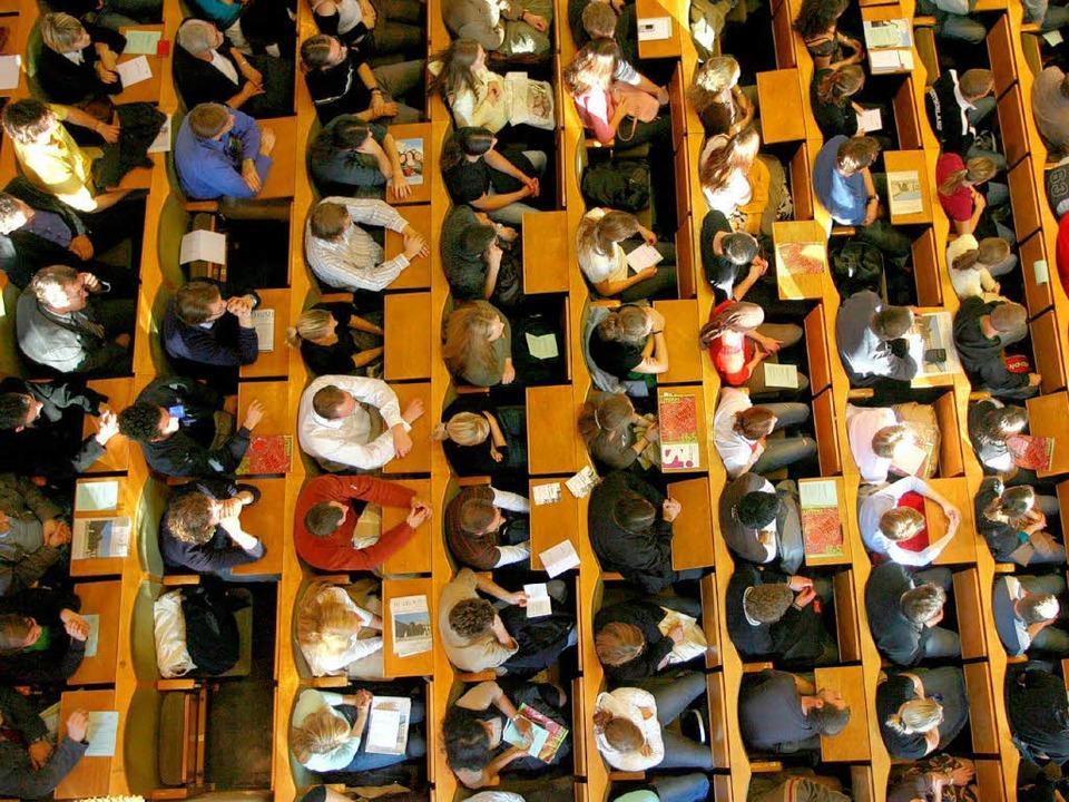 """""""Niemand hatte einen Verdacht"""": Studenten in Heidelberg     Foto: dpa"""