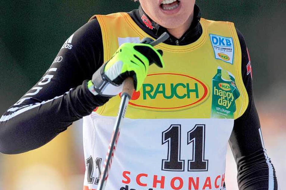 Direkt vor ihm auf Rang 6 landete Johannes Rydzek (Oberstdorf). (Foto: dpa)