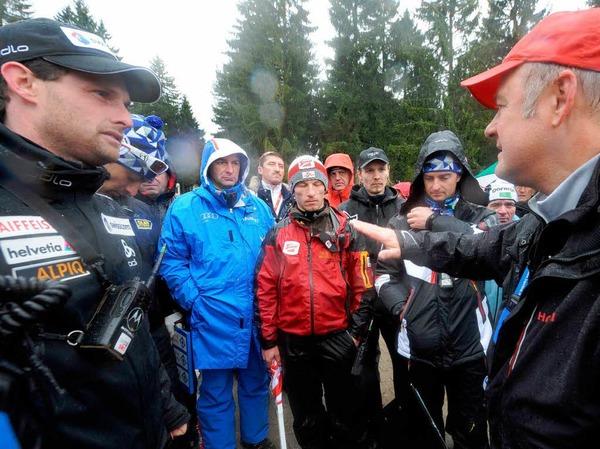 Der Team-Wettbewerb am Sonntag musste aufgrund des schlechten Wetters abgesagt werden.
