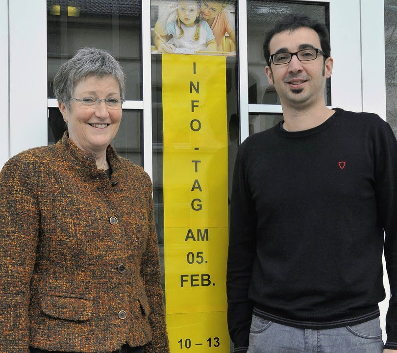 Gabriele Steurer und ihr Nachfolger Martin Gönnheimer  | Foto: bamberger