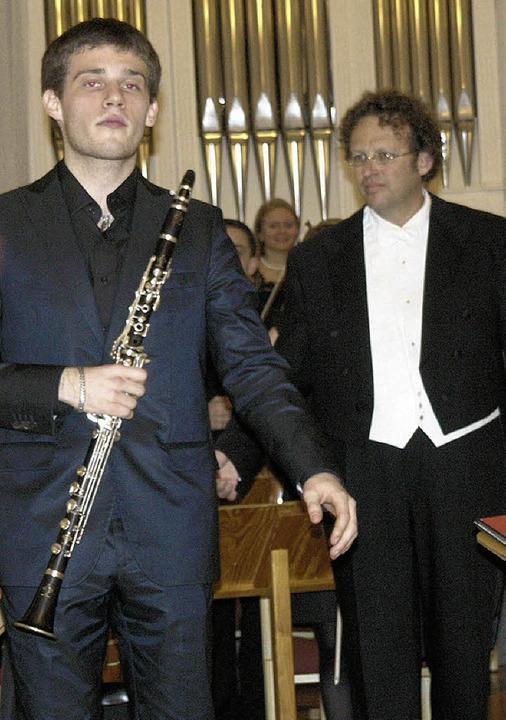 Der Klarinettist Andriy Bandurin aus d...te Darbietung mit stürmischem Applaus.    Foto: Margrit Matyscak