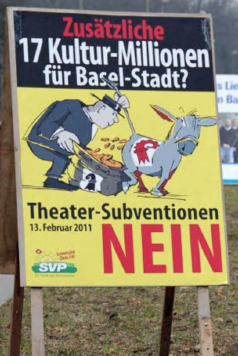 Im Baselbiet herrscht  Wahlkampf. Als ...r Kultursubvention aus Sicht der SVP.   | Foto: Mahro