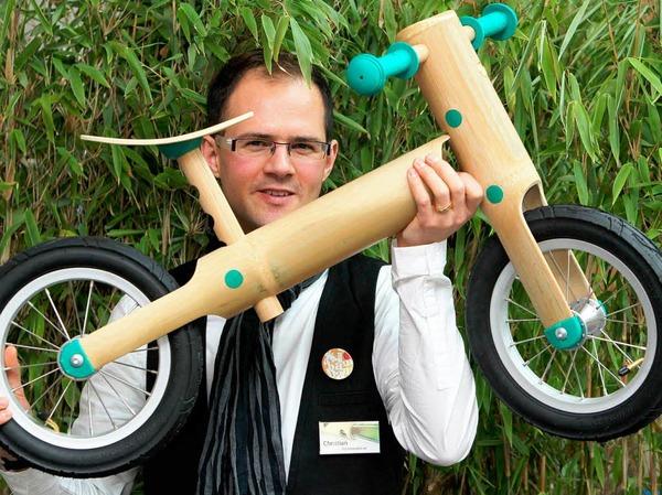 Abbaubar: ein Laufrad aus Bambus.