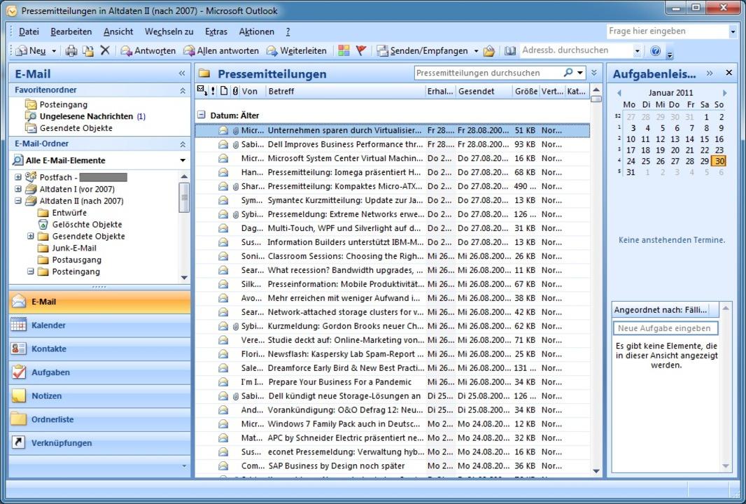 Eine Archivierung der E-Mail findet hä... auch auf der Seite des Servers statt.  | Foto: IDG