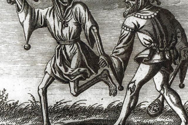 Der Tod mit der Narrenkappe