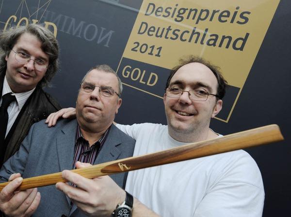 """Deutscher Designpreis in Gold: Der Wanderstab """"Gemse"""", der von geistig behinderten Menschen, die bei der Lebenshilfe Detmold arbeiten,  hergestellt wird"""