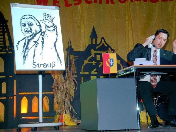 Der Bürgermeister und sei Hannes (Markus Hollemann und Gemeinderat und Ochsehans Walter)
