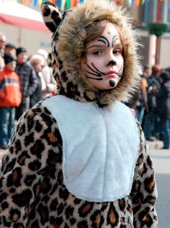Farbenfroh und kreativ verkleidete Besucher am Straßenrand bereicherten den ohnehin fröhlichen Umzug der Narren.