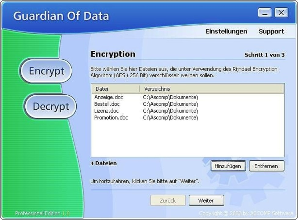 Guardian of Data - Die Freeware Guardi... Download: Guardian of Data </a>