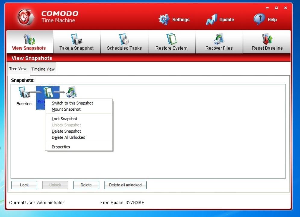 Comodo Time Machine - Comodo Time Mach... Schnappschüsse von Windows erstellen.  | Foto: IDG