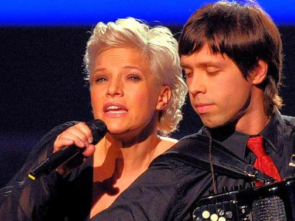 Die deutsche Sängerin und und Moderatorin  Ina Müller moderierte den Abend.