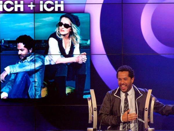 Der S�nger  Adel Tawil von der Band  Ich+Ich erhielt den Preis f�r die beste deutsche Gruppe Rock/Pop und den besten deutschen Live Act.