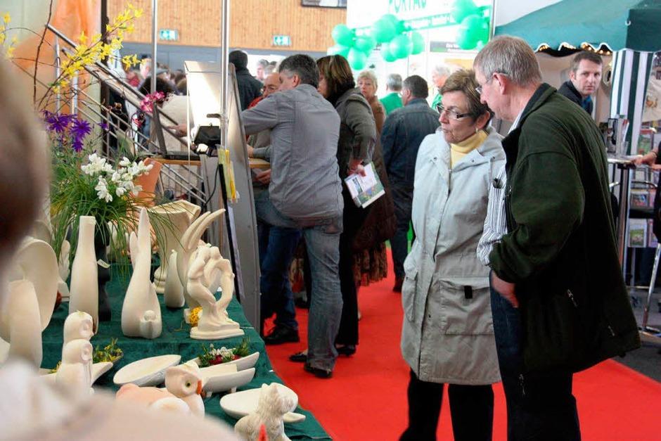 Zahlreiche Besucher informierten sich bei der diesjährigen Frühjahrsmesse der Bautechnologie Breisach in der Breisgauhalle. (Foto: Christine Aniol)