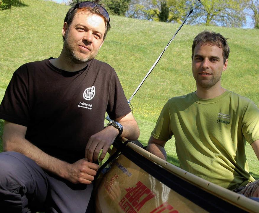Der amtierende Weltrekordler Corrado F...hen Weltrekordler Schitzka und Hofmann  | Foto: Michael Krug