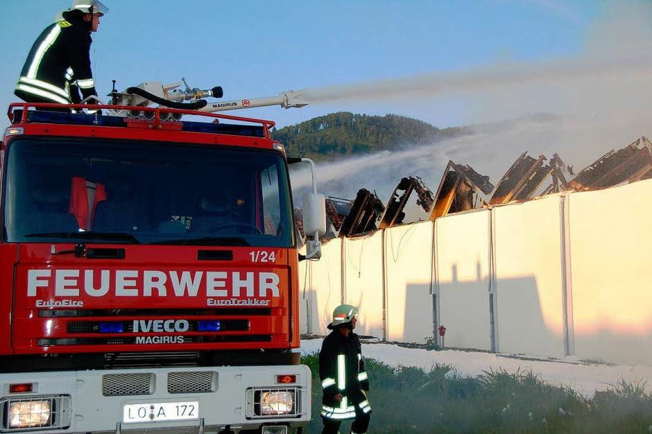 Brand der Spinnerei der Brennet AG in Hausen (Foto: Krug)