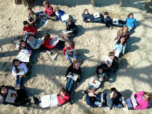 Die Klasse 4c der Emil-Thoma Grundschule