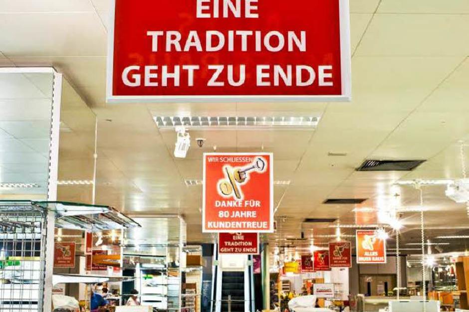 Das Kaufhaus Blum in Rheinfelden schließt nach 80 Jahren (Foto: Dominic Rock)