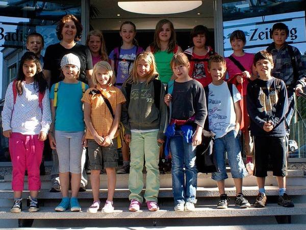 Die Klasse 4a der Gerhard-Jung-Schule aus Zell mit ihrer Lehrerin Birgit Hofmann