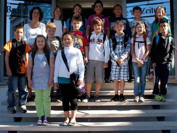 Die Klasse 4b der Gerhard-Jung-Schule aus Zell mit ihrer Lehrerin Regina Jung-Mottarelli