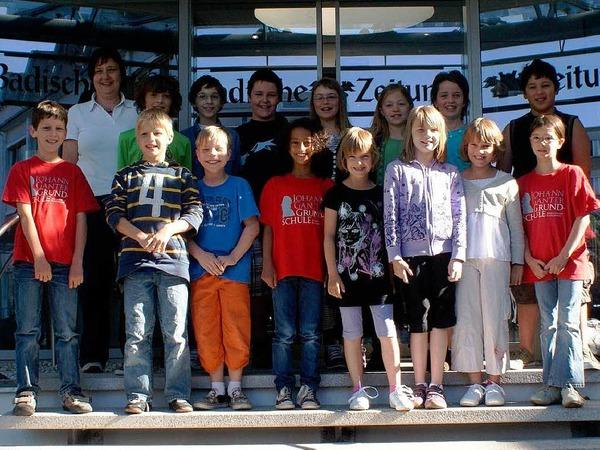 Die Klasse 4 der Johann-Ganter-Grundschule aus Herbolzheim mit ihrer Lehrerin Ruth Röttele