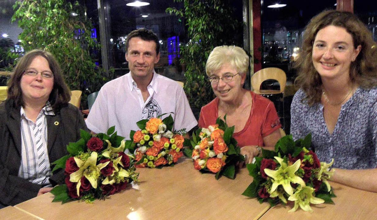Sie stehen an der Spitze des Grünen-Kr...g (Schatzmeisterin) und  Saskia Hynek     Foto: Paulina Grimm