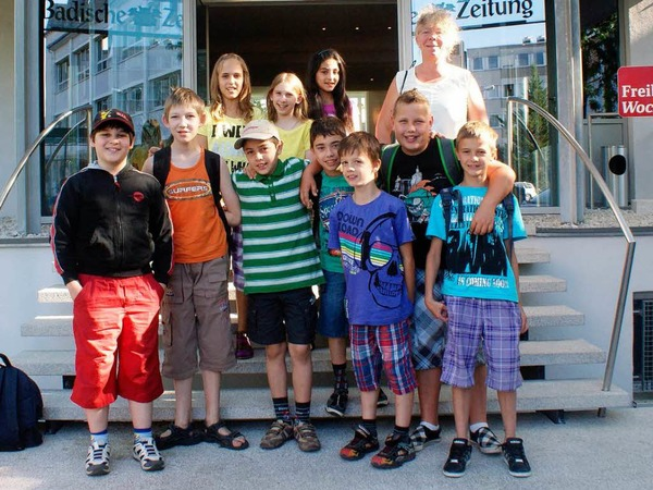 Die Klasse 3-4 der Sprachheilschule aus Rheinfelden mit ihrer Lehrerin Frau Armbruster