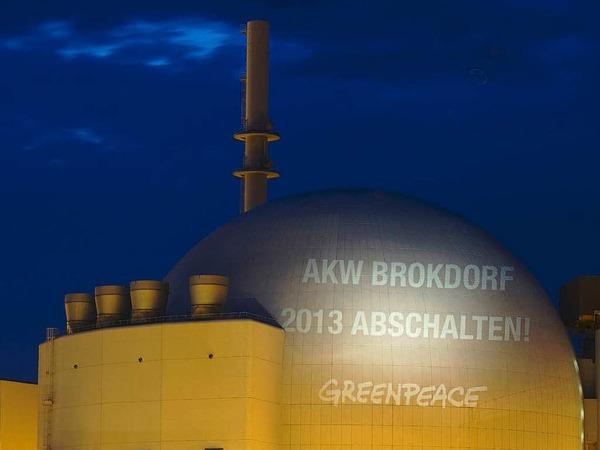 Das Kernkraftwerk Brokdorf in Schleswig-Holstein