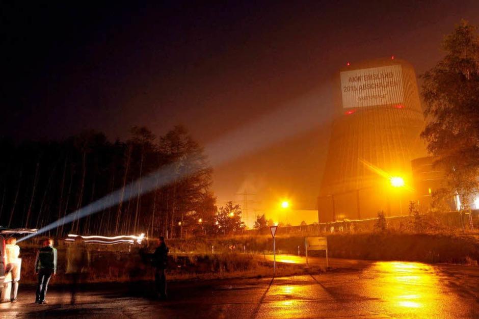 Greenpeace-Protest  an allen neun noch laufenden Atomreaktoren in Deutschland (Foto: dapd)