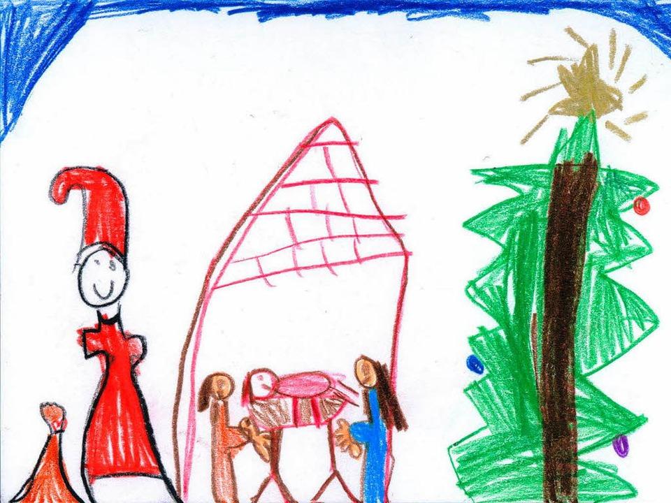 Eine der Siegerkarten des Malwettbewerbs 2010    Foto: privat