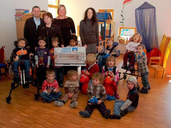 Auch im Christian-Heinrich-Zeller Schulkindergarten für Geistig- und Körperbehinderte in Bad Säckingen freut man sich über die Spende.